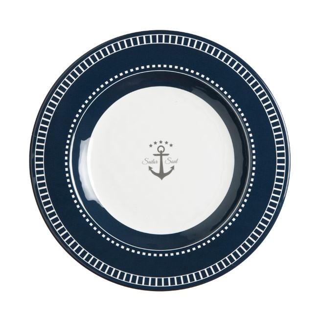 "Marine Business Dessertteller ""Sailor Soul"" Melamin 20 cm"