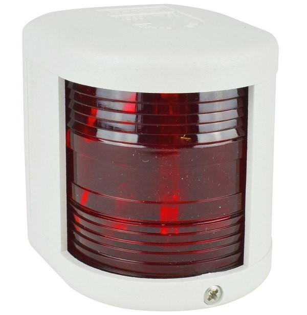 Aqua Signal Serie 25 Backbordlaterne rot, Gehäuse weiss