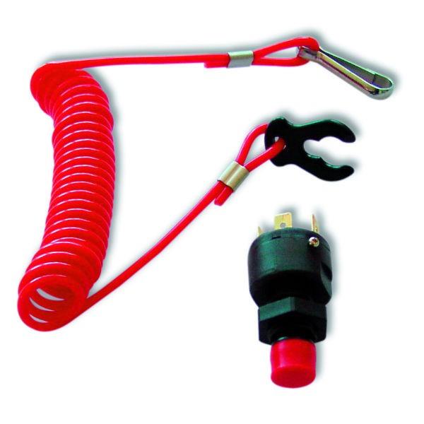 Stop-Schalter für die Zündung mit Kabel und Clip