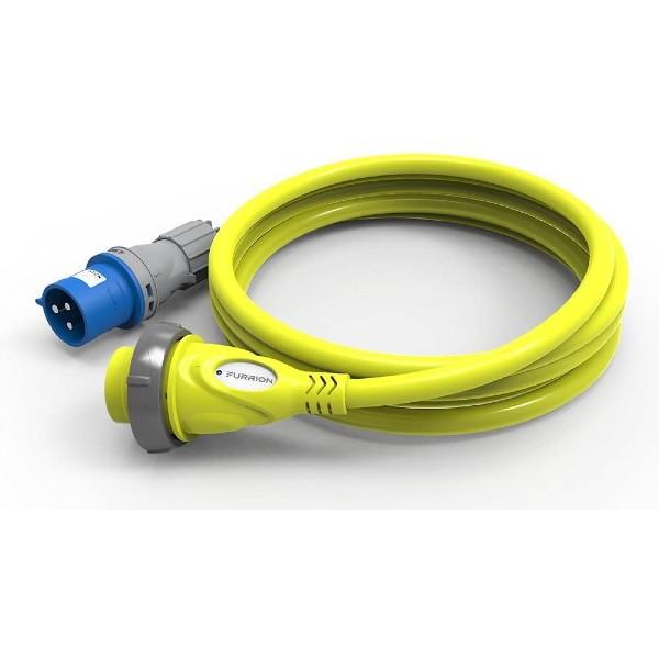 Furrion Landanschlußkabel gelb mit LED Kontrollleuchte