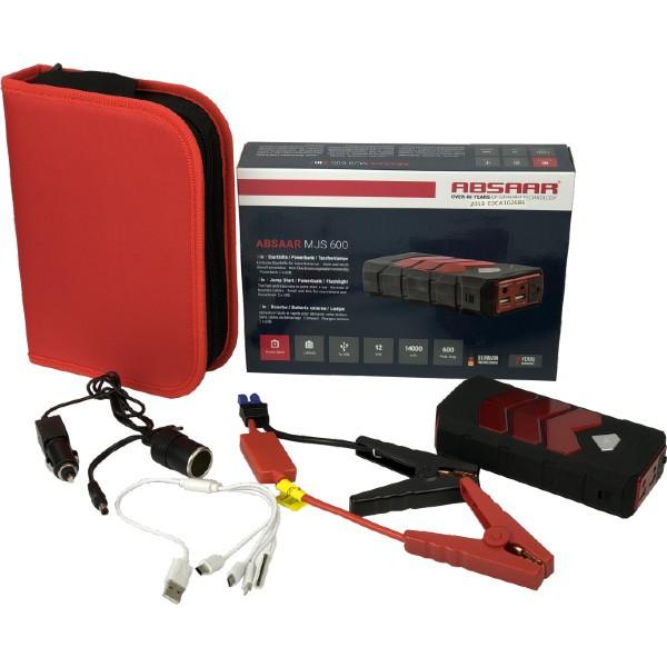 Absaar MJS 600 3in1 - Starthilfe - Powerbank - Taschenlampe 14000mAh