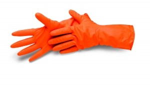 Latex Haushaltshandschuhe orange