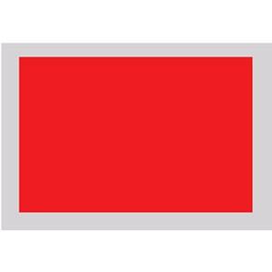 Notflagge (rot), 60 x 60 cm