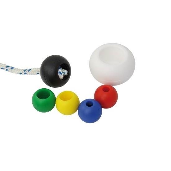 Griffkugeln in rot, blau, gelb, grün, schwarz oder weiss Ø 22 mm, für Tauwerk bis Ø 6 mm