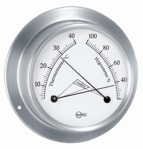 Barigo Sky Thermo- /Hygrometer Ø 85 mm Edelstahl gebürstet