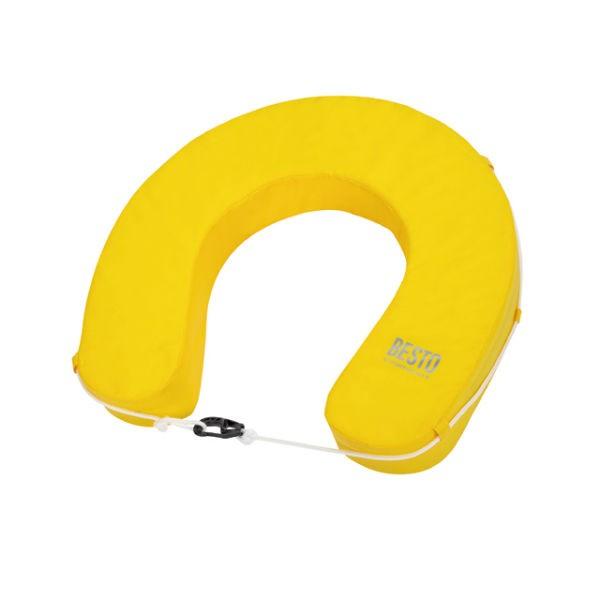 Besto Hufeisen-Rettungsring Wipe-clean gelb