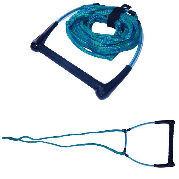 Spinera Monoskileine 16-fach geflochten grün/blau - Monoski Trainer