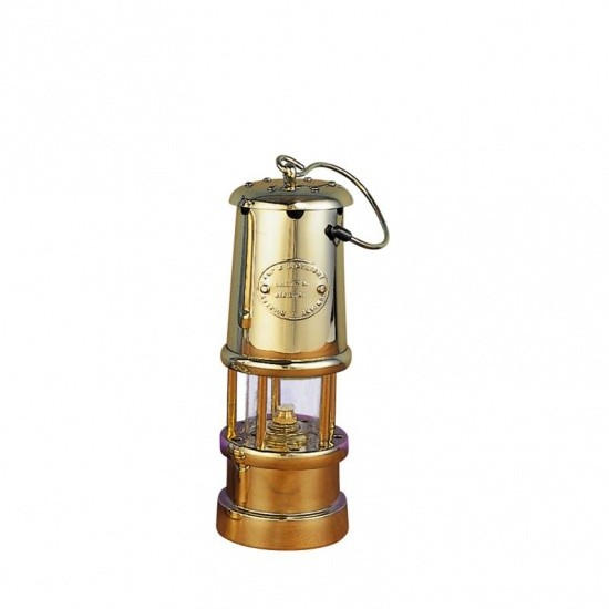 Miner's Lampe, Höhe 24 cm, Messing