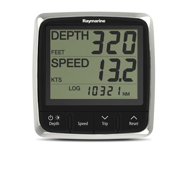 Raymarine i50 Tridata System, mit Duchbruchgebern P120 Log/Temperatur und P19 Lot