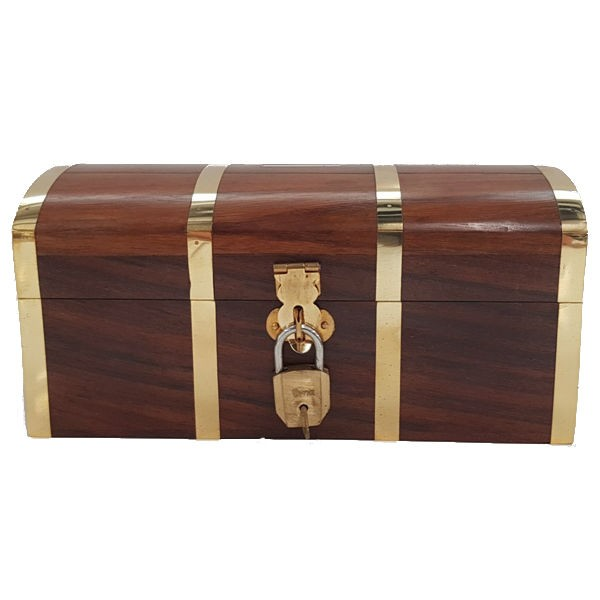 Piratenschatzkiste - Spardose, abschließbar, klein 15 x 7,8 x 6,6 cm