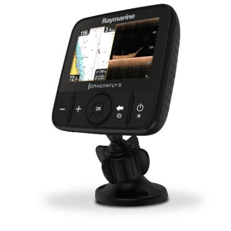 Raymarine Dragonfly 4 Sonar/GPS mit integriertem CHIRP DownVision und CHIRP Sonar inkl. CPT-DVS Geber & Wi-Fi