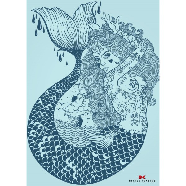 Maritimes Notizbuch Meerjungfrau