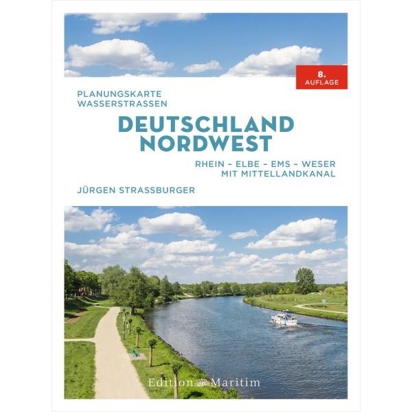Planungskarte Wasserstraßen Deutland Nordwest - Rhein-Elbe-Ems-Weser; mit Mittellandkanal - Jürgen Straßburger