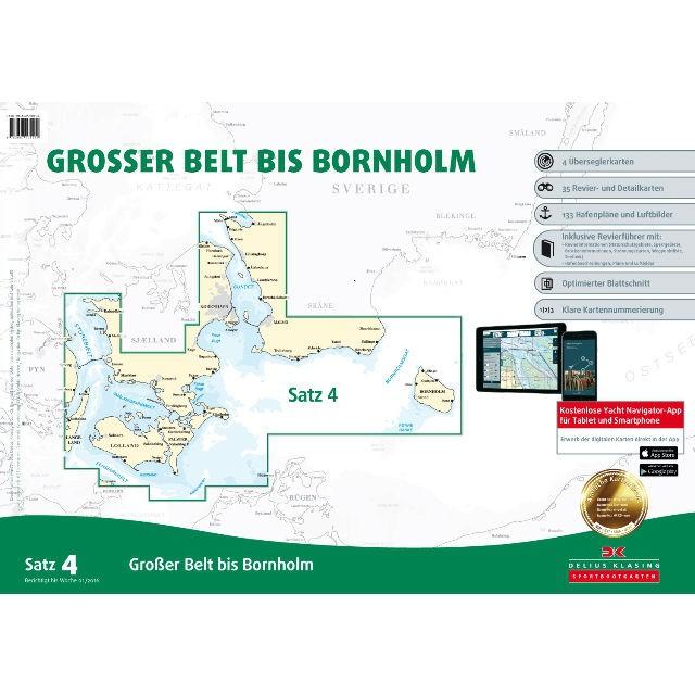 DK Sportbootkarten Satz 4: Großer Belt bis Bornholm (Ausgabe 2021)