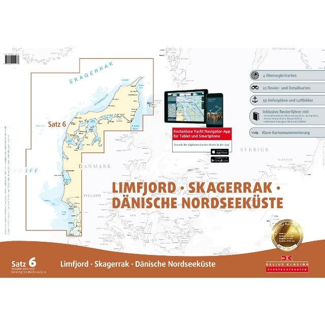 DK Sportbootkarten Satz 6: Limfjord - Skagerrak - Dänische Nordseeküste (Ausgabe 2020/2021)