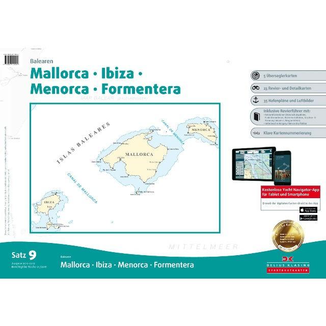 DK Sportbootkarten Satz 9: Balearen