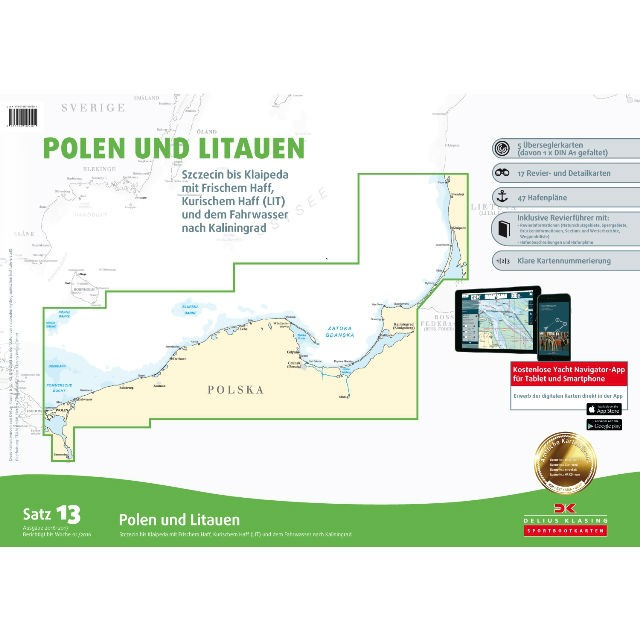 DK Sportbootkarten Satz 13: Polen und Litauen
