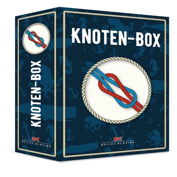 Knoten-Box mit Ring, Leinen und Anleitung