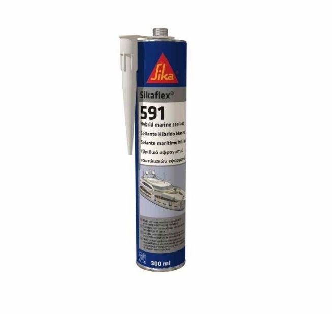 Sikaflex®-591 weiss, 300 ml einkomponentiger Dichtstoff