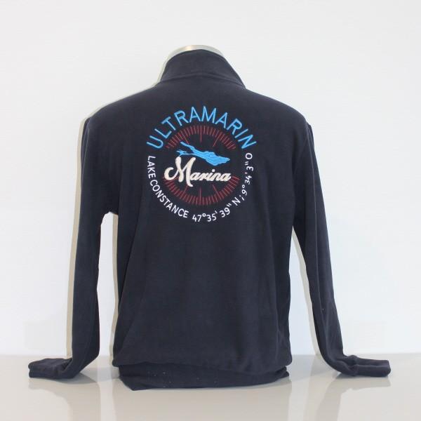 ULTRAMARIN Kollektion Herrenfleecejacke navy Rückseite Stick