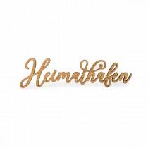 """Seesucht Schriftzug """"Heimathafen"""" 32 x 5 x 0,6 cm, Eiche"""
