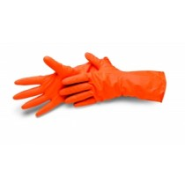 Latex Haushaltshandschuhe orange