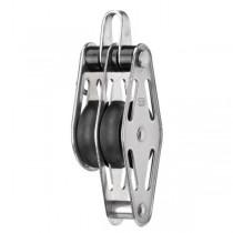 2552 HS Doppel-Gleitlagerblock mit Bügel und Hundsfott, 8 mm