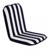 Comfort Seat, der mobile Sitzkomfort blau-weiß gestreift