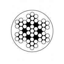 Niro-Relingsdrahtseile, Konstruktion 7x7, weiß kunststoffummantelt