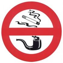 Selbstklebendes  Warnschild ,,Rauchen verboten''