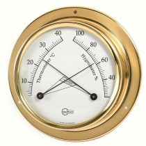 Barigo Mini Thermo- / Hygrometer  Ø 70 mm Messing