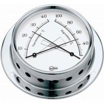 Barigo Tempo Thermo-/ Hygrometer Ø 85 mm verchromt