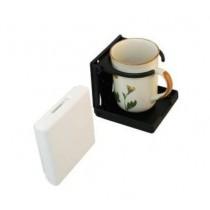 Glashalter klappbar, Kunststoff schwarz oder weiß