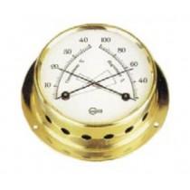BARIGO Tempo Thermometer/ Hygrometer  Ø  85mm Messing