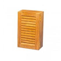 Eintüriger Schrank mit variabler Facheinteilung, 45,5 x 33 x 11,5 cm, Teak