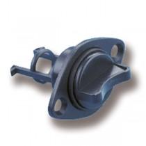 Lenzstopfen mit Schraubverschluss schwarz Ausschnitt 18 mm