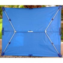 SWI TEC - Fixtop Sonnensegel Standard blau 190 x 230 cm