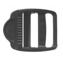 Leiterschnalle, schwarz, Nylon, 25mm