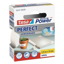 tesa® extra Power Perfect Gewebeband weiss 19 mm