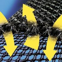 GISATEX Dryweave® 10 Matzratzenunterlüftung 200 cm breit, schwarz - Meterware