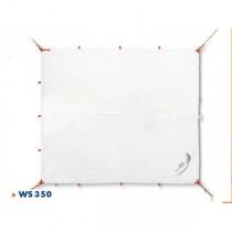 seaEQ Sonnensegel Quattro weiss, 3,5 x 3 m, wasserdicht