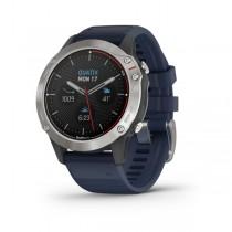 Garmin quatix 6 grau, mit blauem Armband