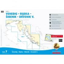 Delius Klasing Sportbootkarte Satz 7: Adria 1 - Venedig - Rijeka - Sibenik - Drvenik V.