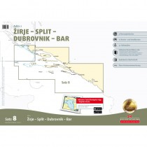DK Sportbootkarten Satz 8: Adria 2 - Zirje - Split - Dubrovnik - Bar