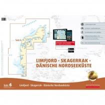 DK Sportbootkarten Satz 6: Limfjord - Skagerrak - Dänische Nordseeküste (Ausgabe 2016/2017)