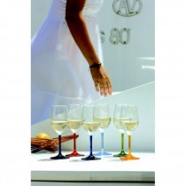"""Marine Business Weinglas Serie """"Party"""", farbiger Stiel"""