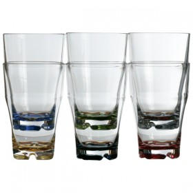 "Marine Business Saftglas Serie ""Party"" farbiger Boden, 350ml"