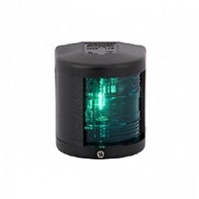 Aqua Signal Serie 25, Steuerbordlaterne grün, Gehäuse schwarz