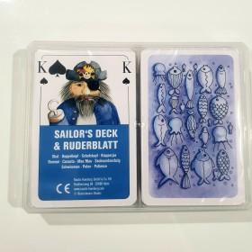 Romme-Kartenspiel Sailor's Deck und Ruderblatt 2 x 56 Karten