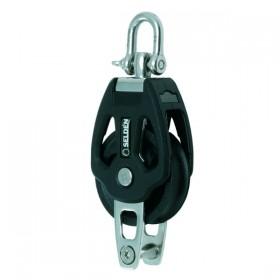 Seldén einscheibiger Gleitlagerblock PBB50 mit Wirbel und Unterbügel